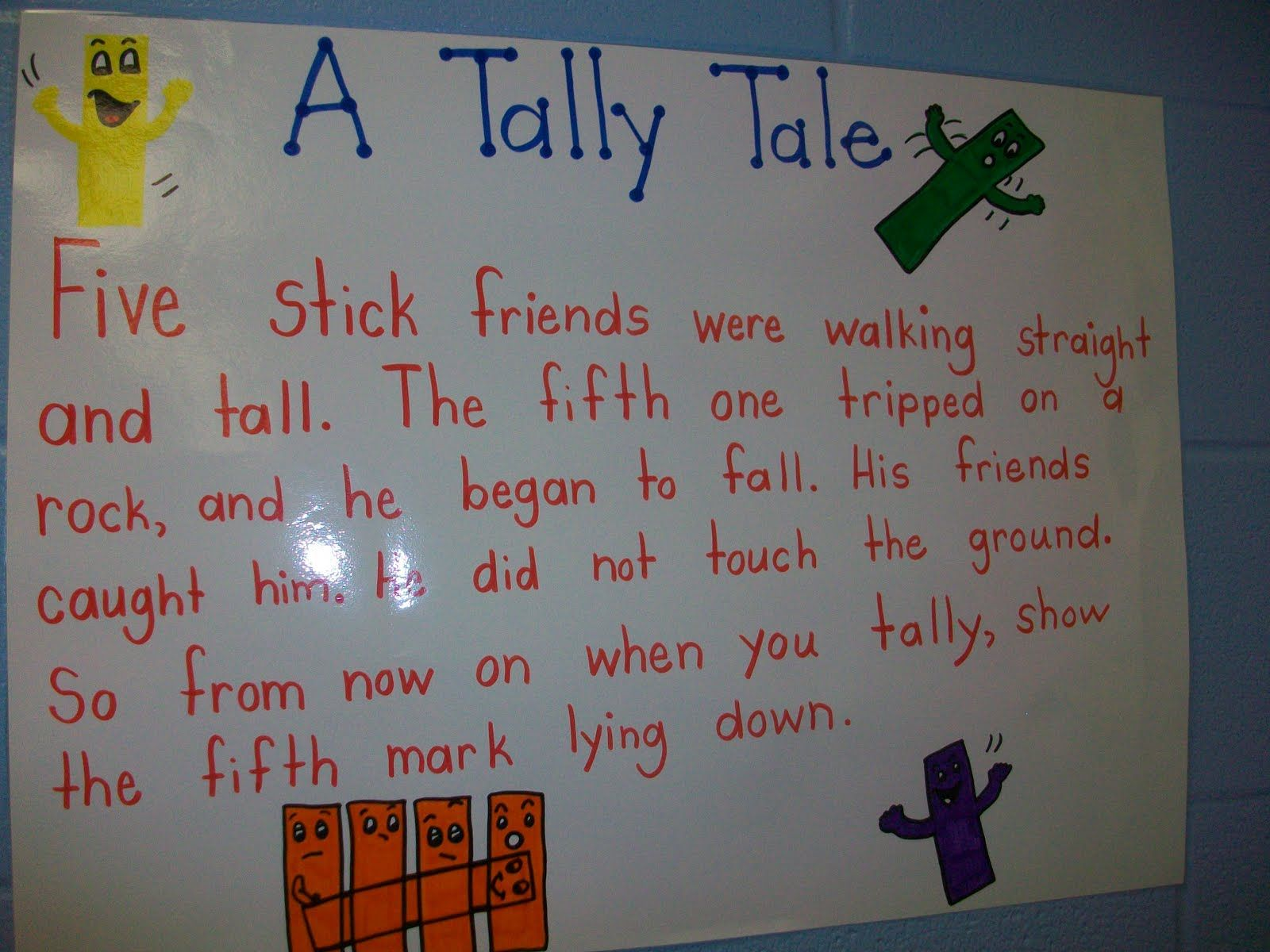 Tally Tale From Mrs Wheeler S First Grade
