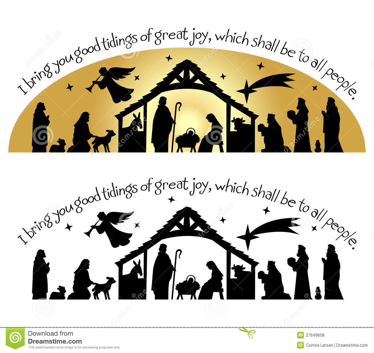 Nativity Christmas Silhouette/eps Download From Over 27