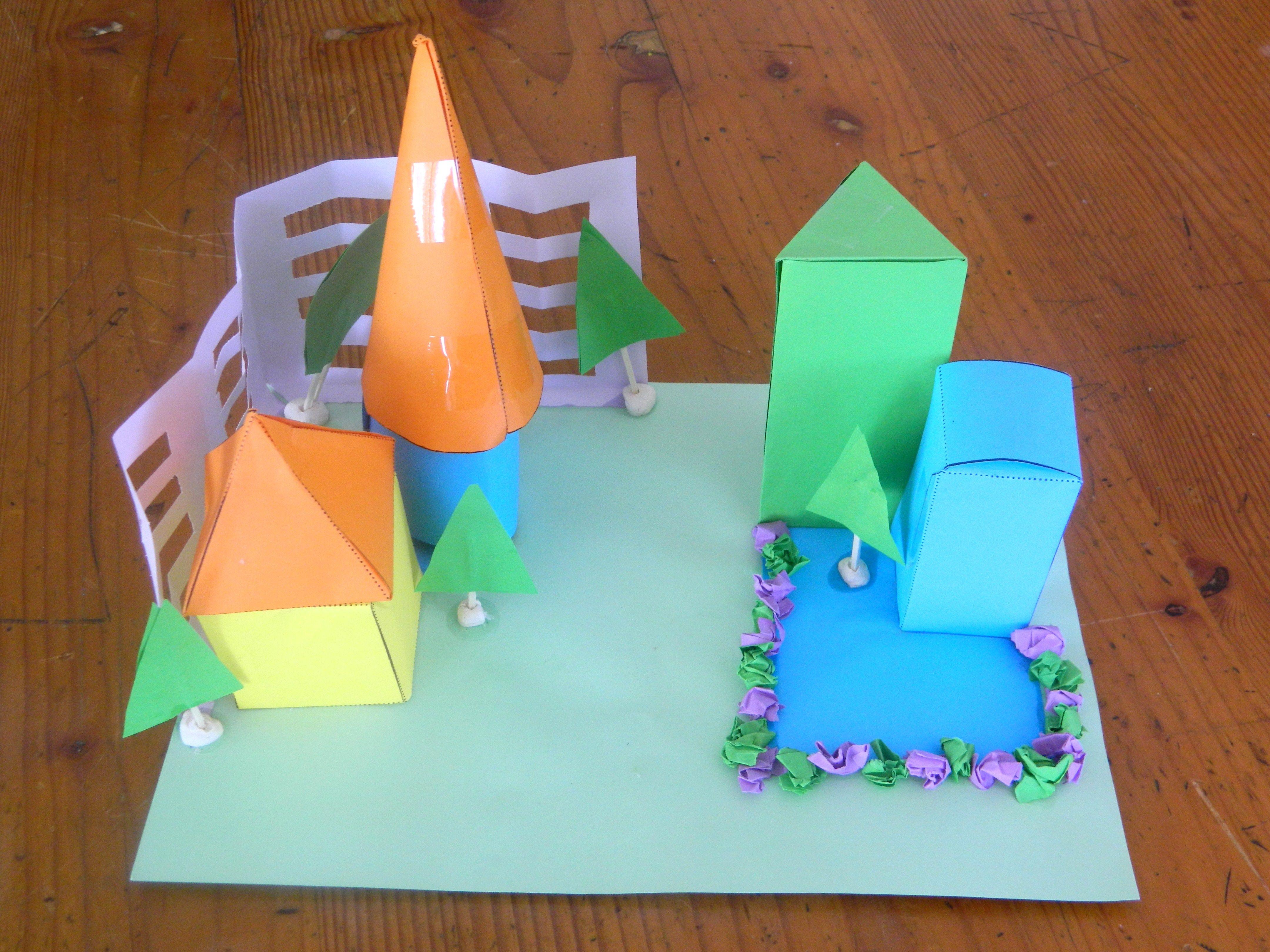 Use 3d Shape Nets To Create A Cardboard Construction Each