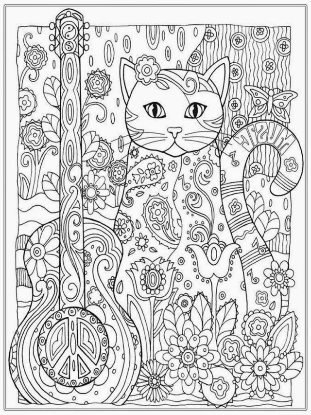 Pretty coloring pages to print for adults