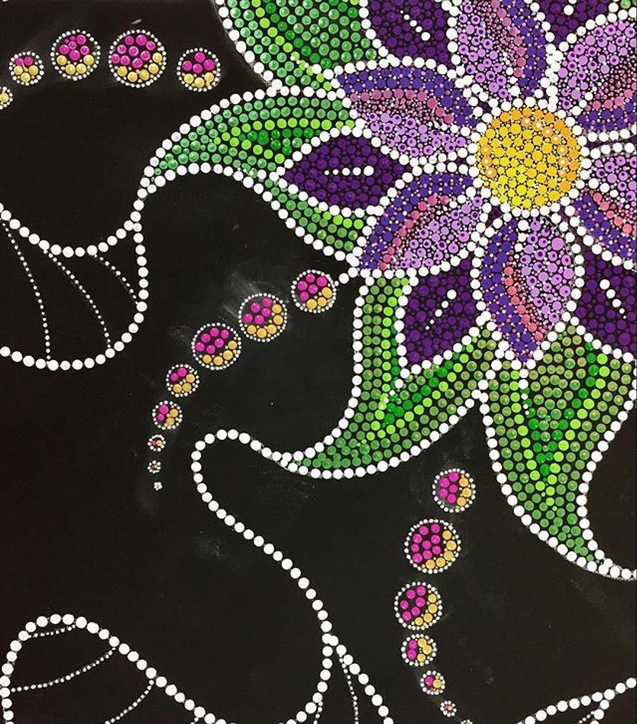 Pin By Kaz Ripper On Dot Painting Pinterest Flower