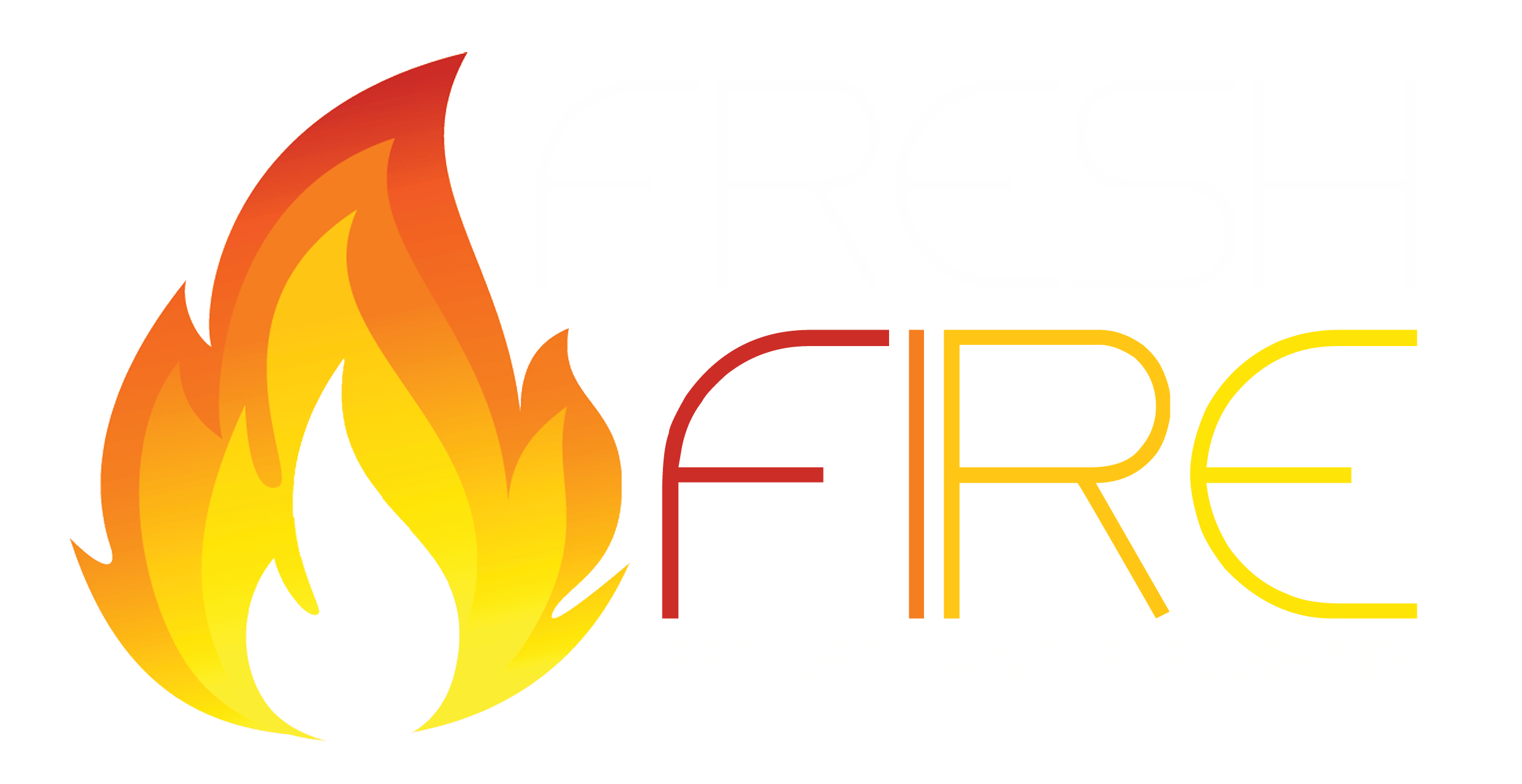Fresh Fire Records logo transparent for black background