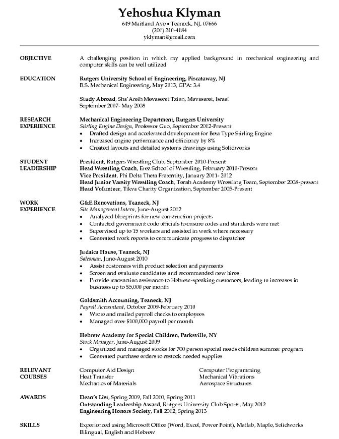 Mechanical Engineer Resume Objective. Wwii German Pow Camps In Us