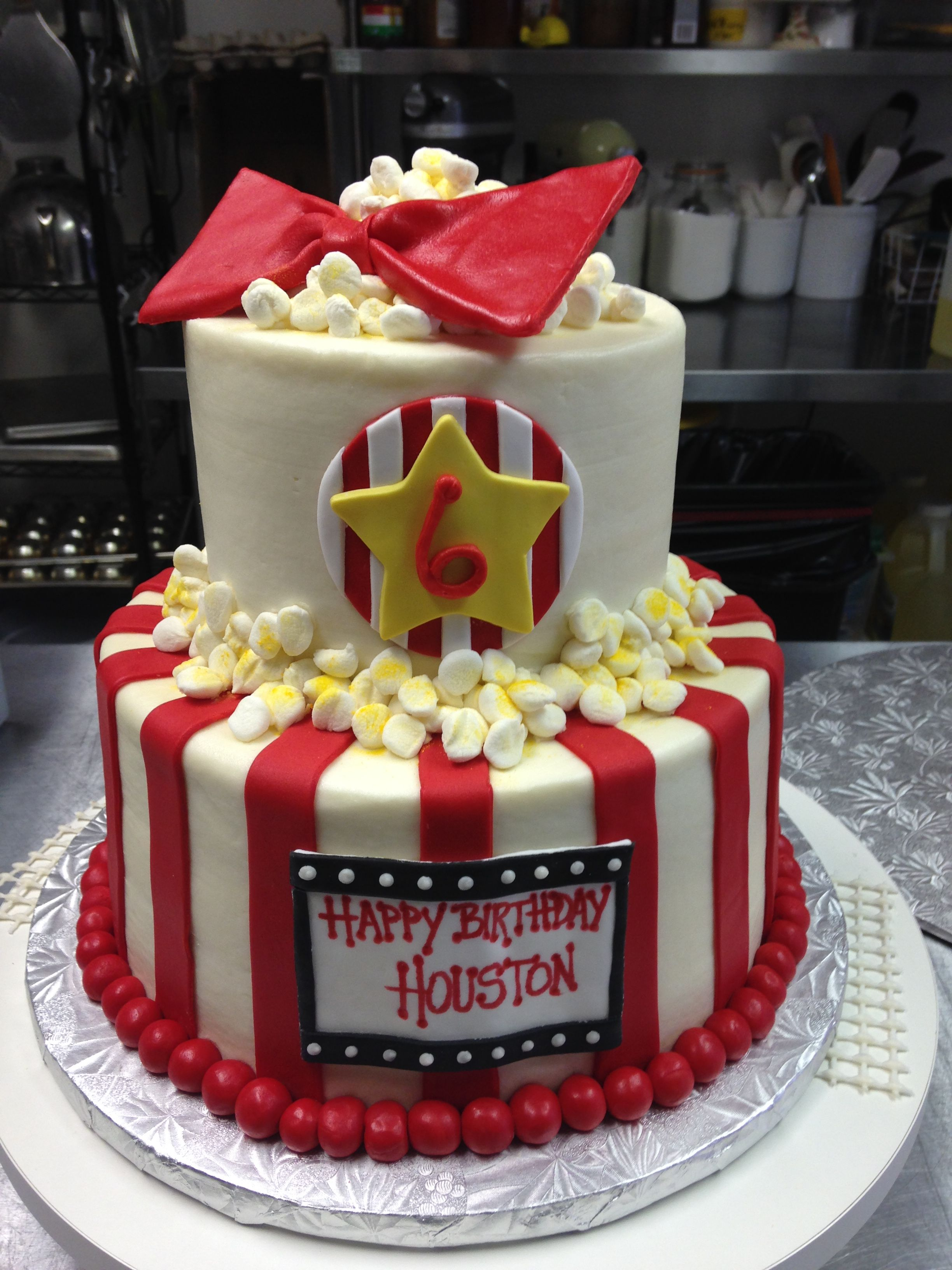 Movie Theater Themed Birthday Cake Made With Both Butter