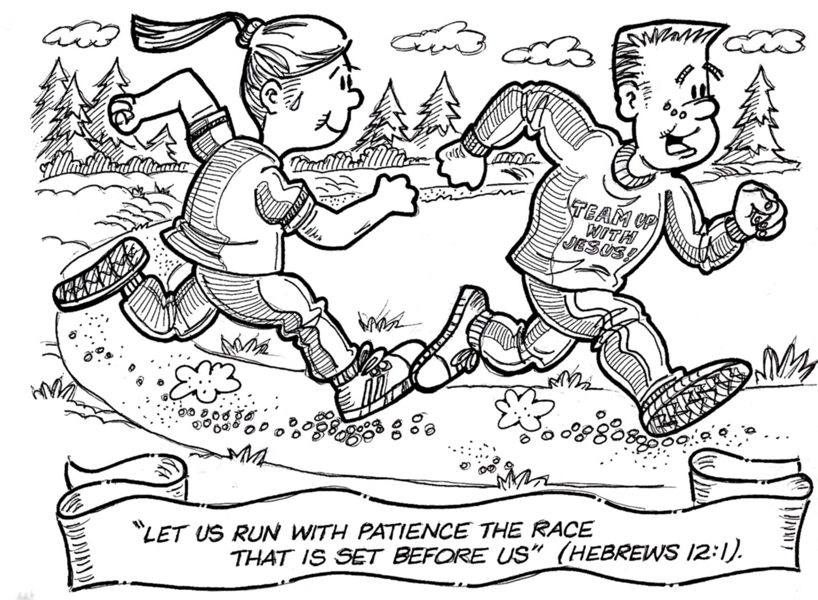 Free Coloring Pages Of Running The Race Color