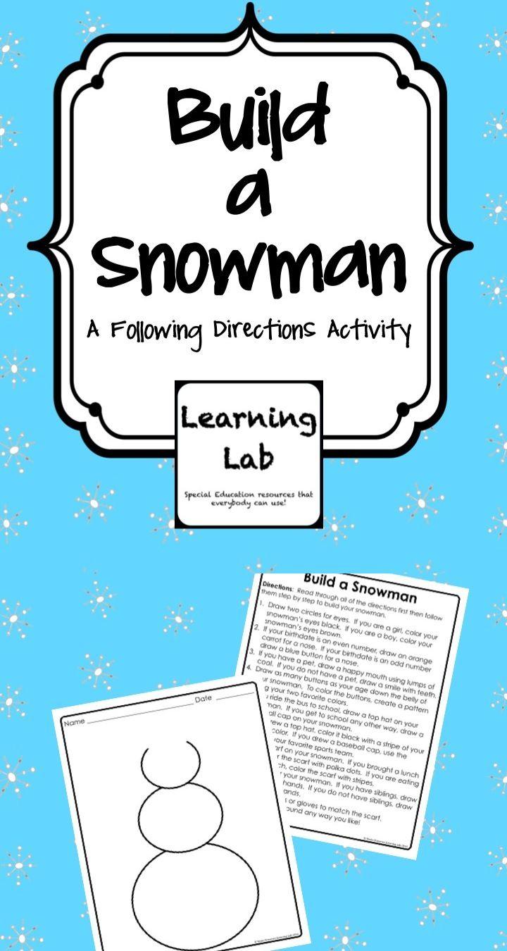 Build a Snowman (Following Directions) Snowman
