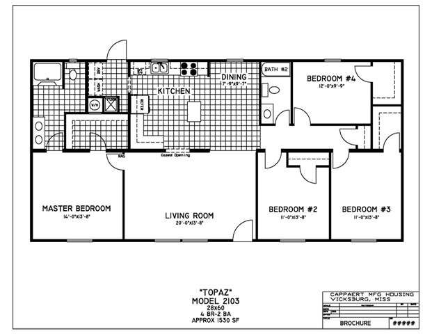 4 bedroom 28x60 floor plans | home decor | pinterest | bedrooms