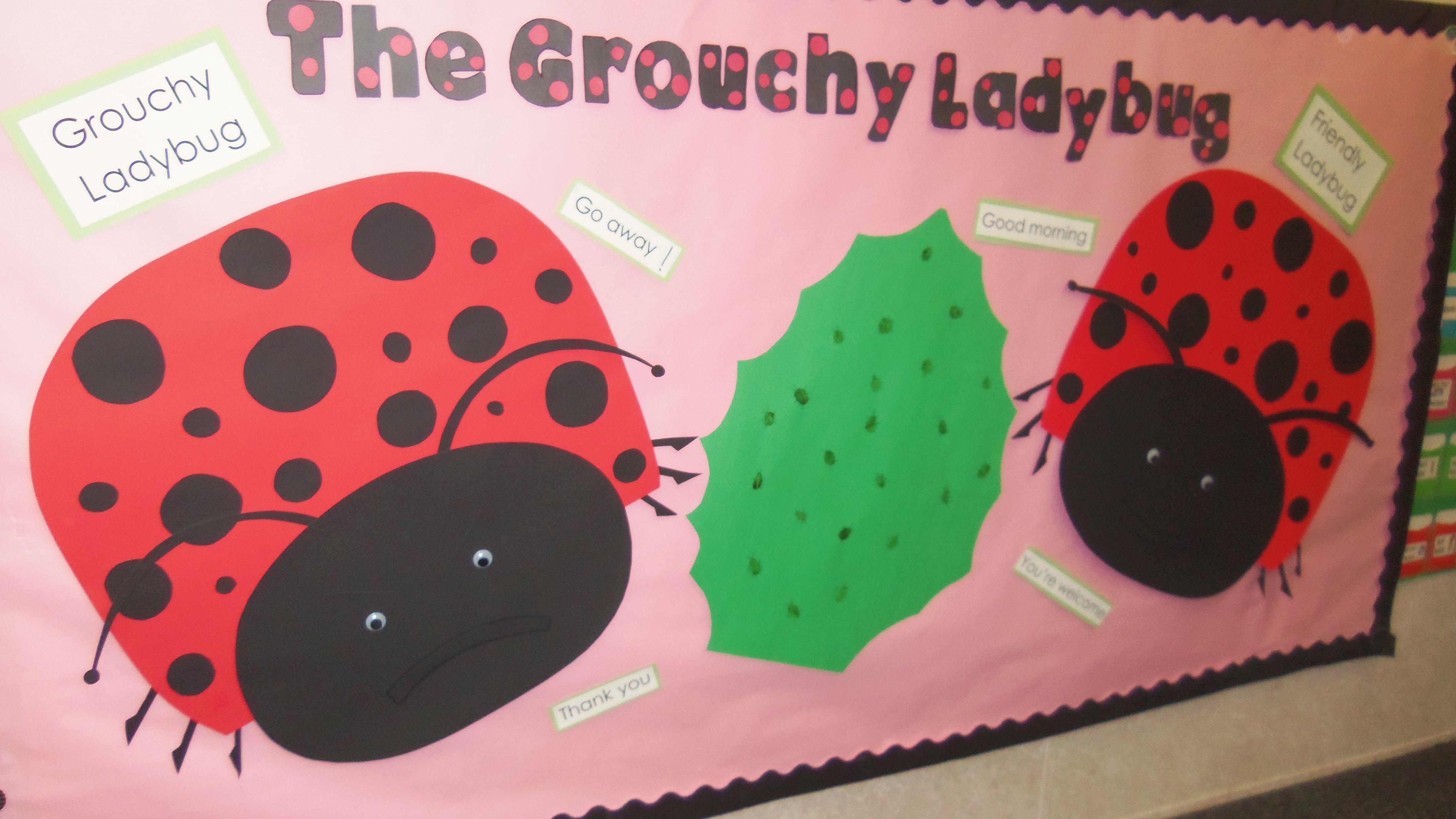 Grouchy Lady Bug Bulletin Board