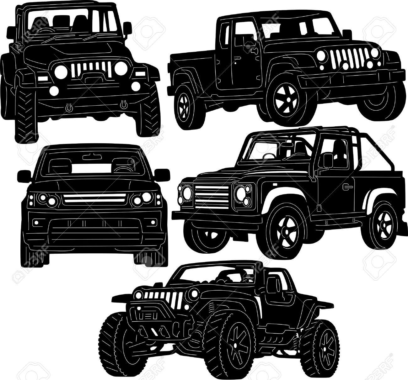 Jeep Mud Clip Art Vector jeep Pinterest Jeeps and
