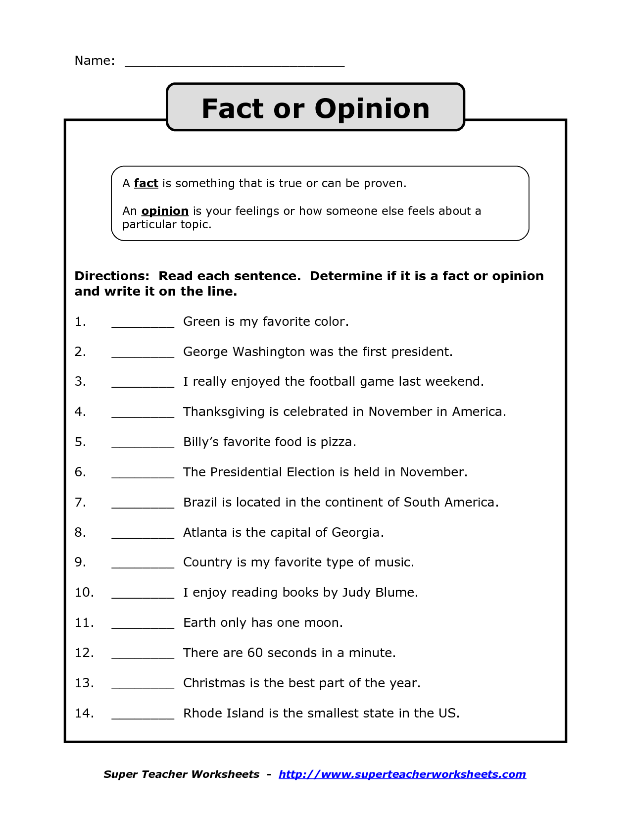 Fact And Opinion Graphic Organizer 2nd Grade