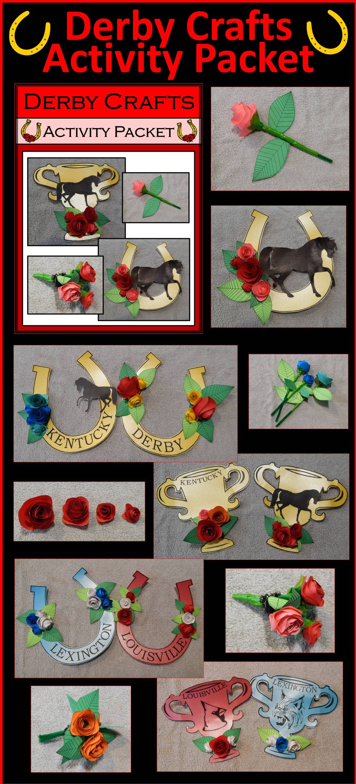 Kentucky Derby Crafts Activity Packet