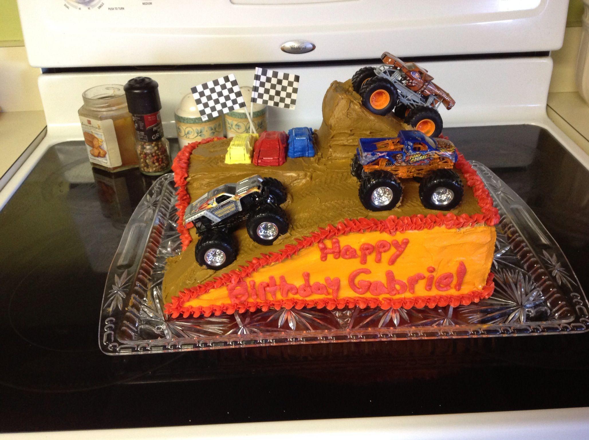 Monster jam birthday cake Birthday party Pinterest