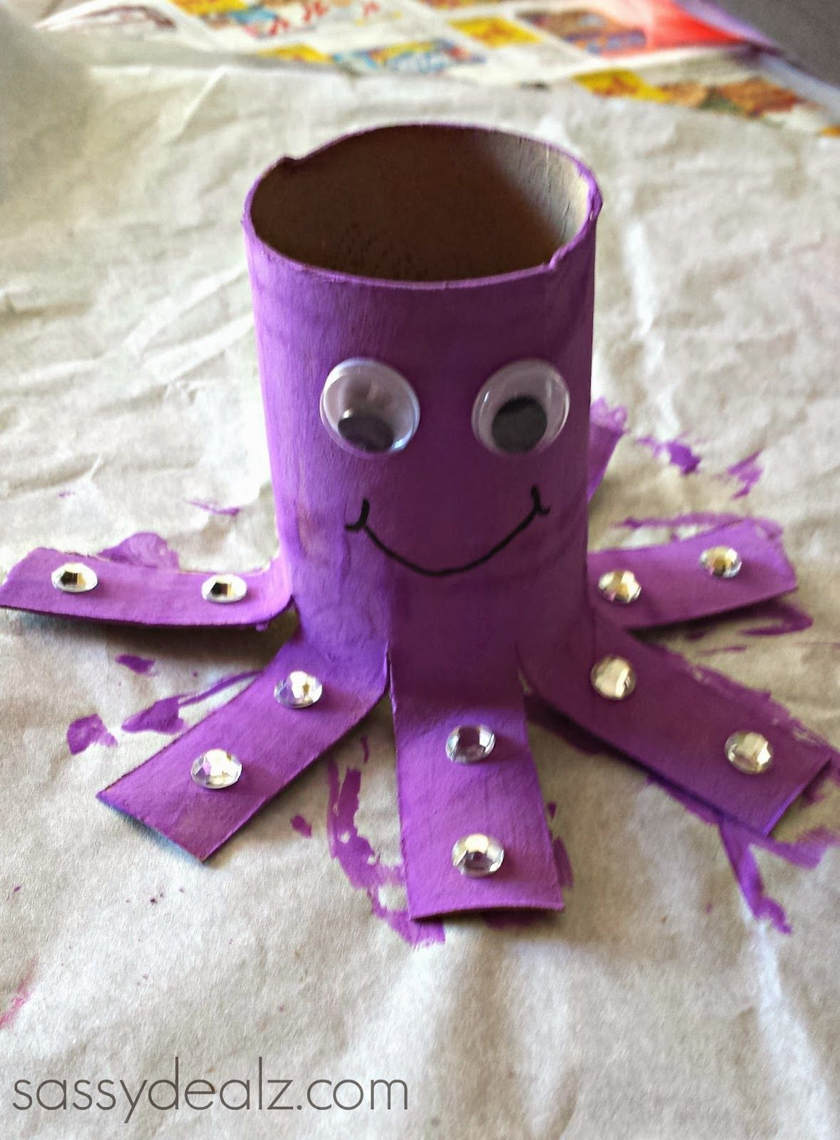 Octopus Toilet Paper Roll Craft For Kids Recycled Empty