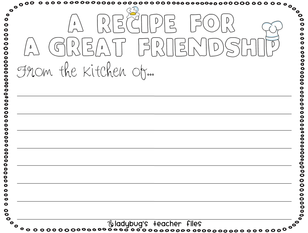 Enemy Pie Friendship Writing Activities
