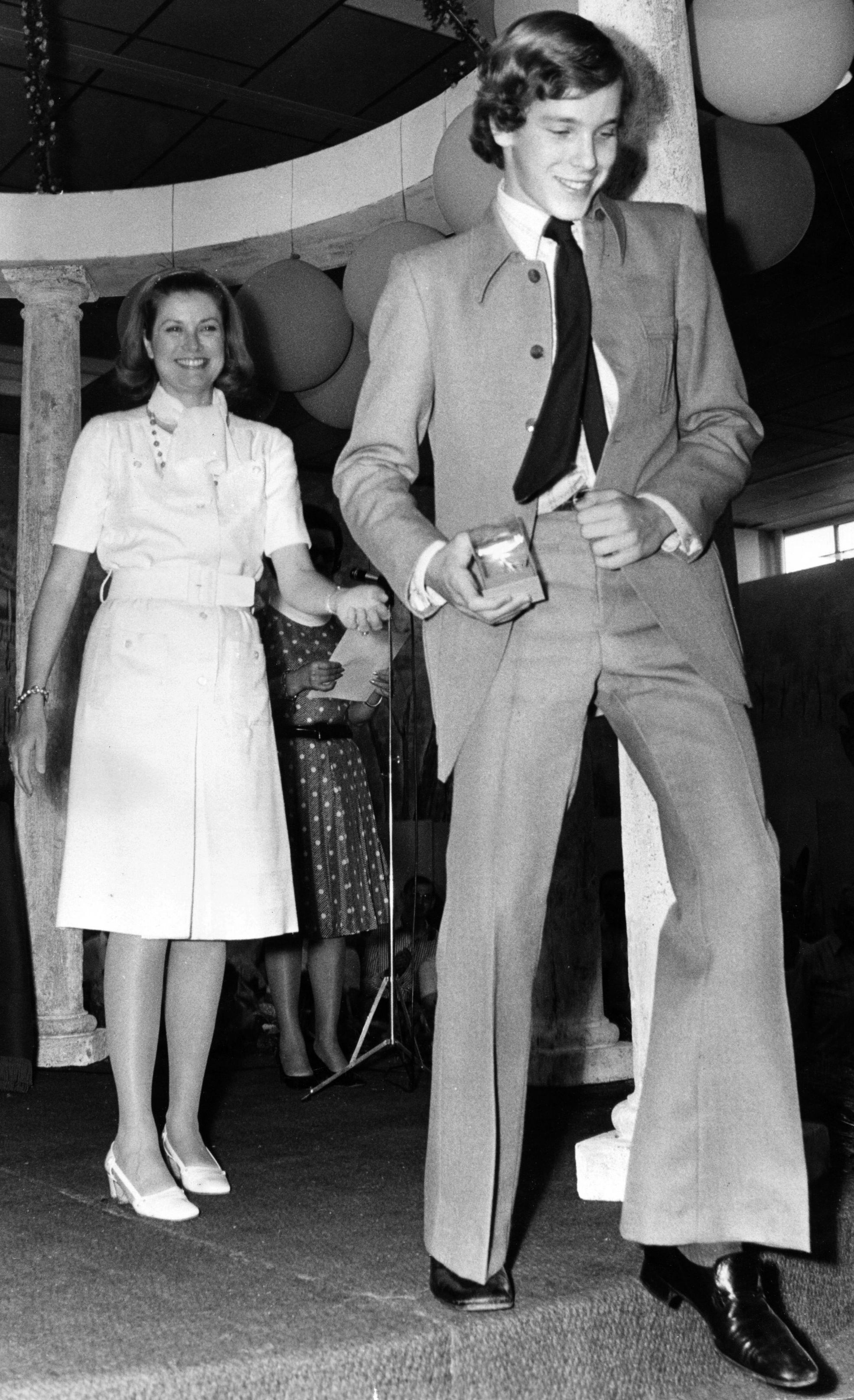 Princess Grace and Prince Albert at Princess Caroline's