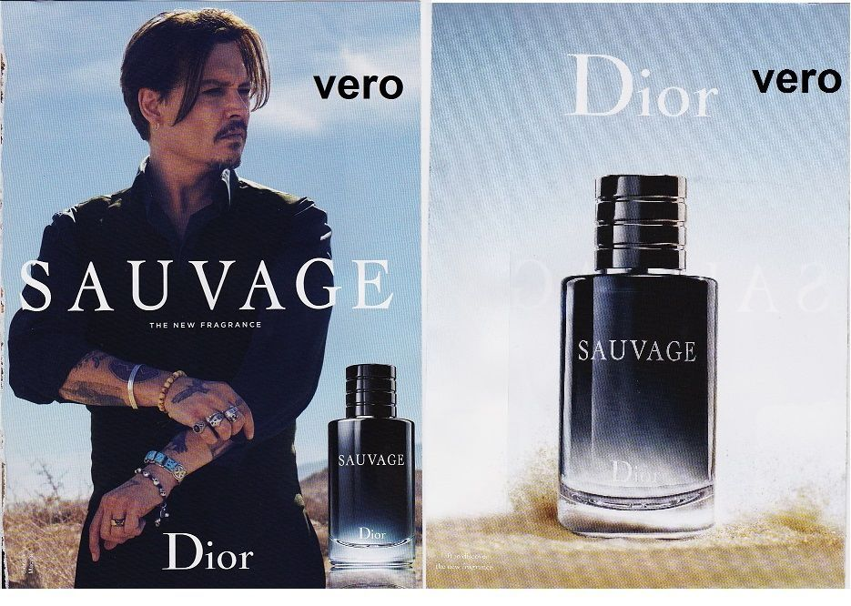 DIOR Sauvage Mag Print Ad Open Sniff Fragrance Cologne