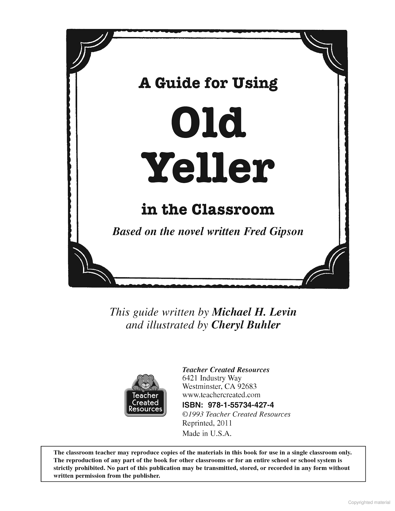 Guide Us G Old Yeller Cl Ssroom Element Ry 5th