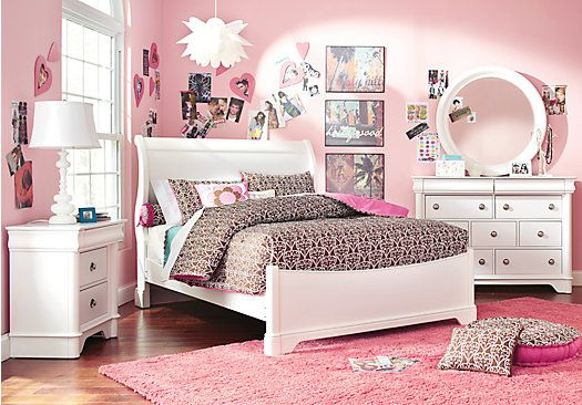 shop for a oberon white 6 pc twin sleigh bedroom at rooms to go
