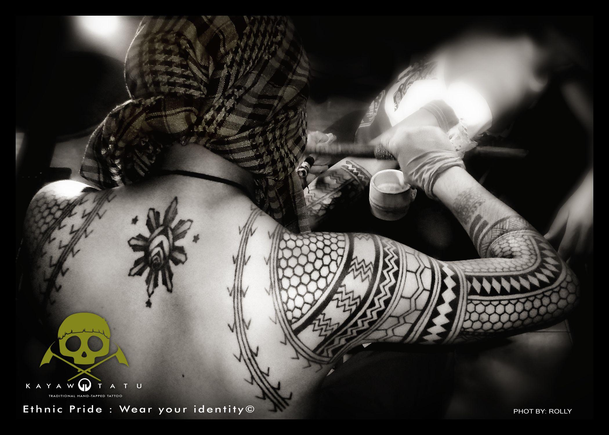 Philippines Kalinga traditional way of tattooing Ethnic