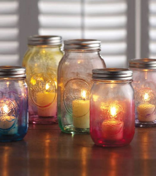 Mason Jar Crafts Create A Diy Candle Holder Using Watercolors And Ball Jars For