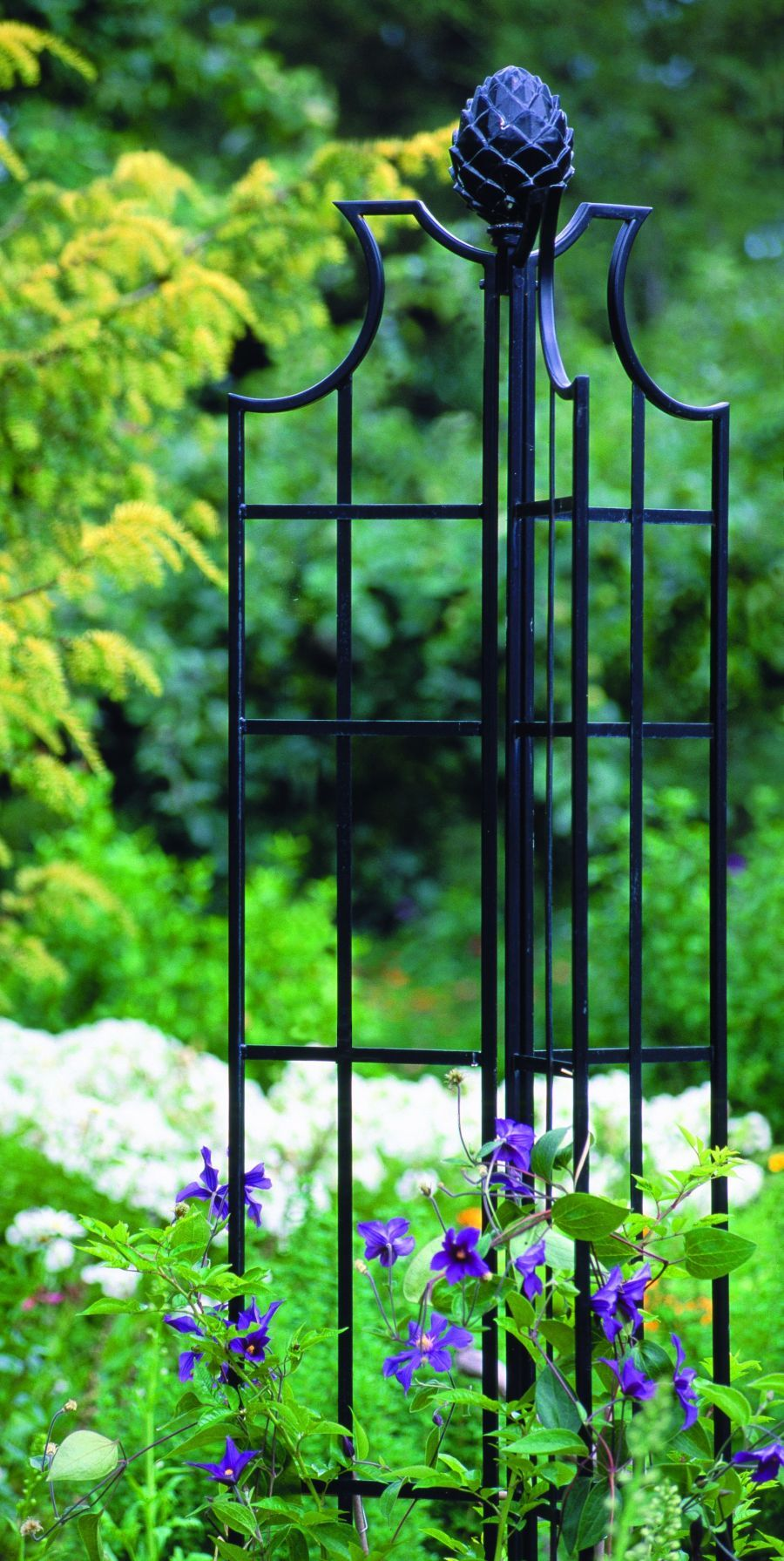 Garden Obelisk great black iron. Obelisks Pinterest