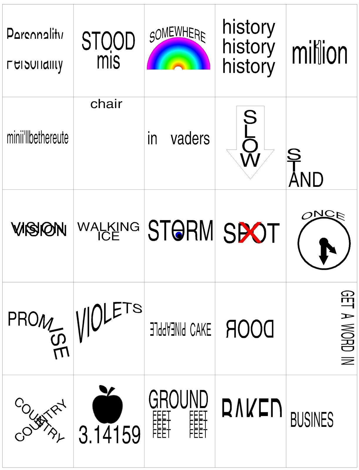 Another Hidden Meaning Brain Teaser Game Printable brain