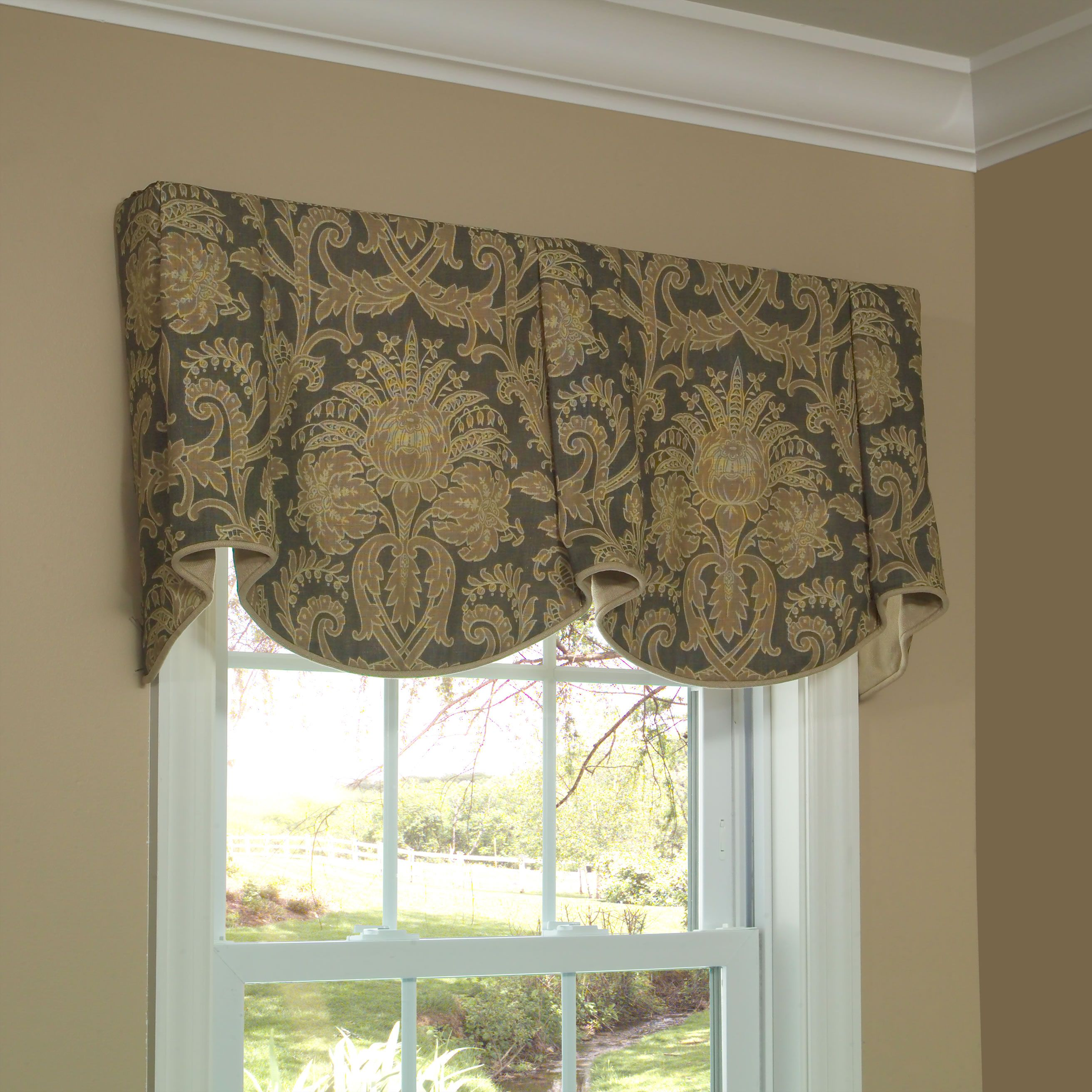 Sheffield Valance Allows You To Feature Two Pattern Motifs