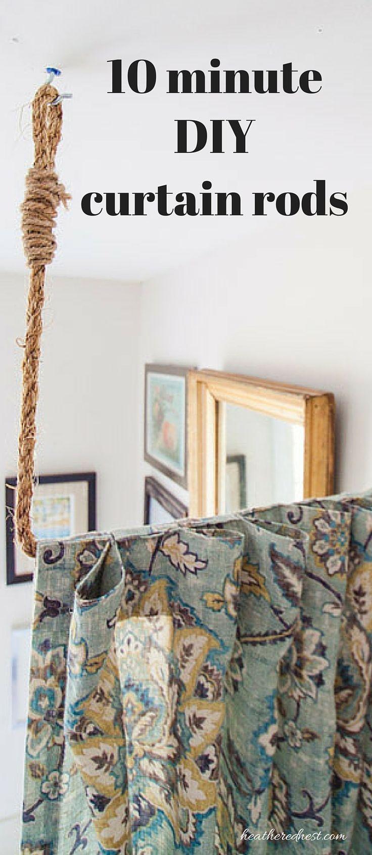Pipe Dreams. AKA Build a DIY Curtain Rod in 10 minutes