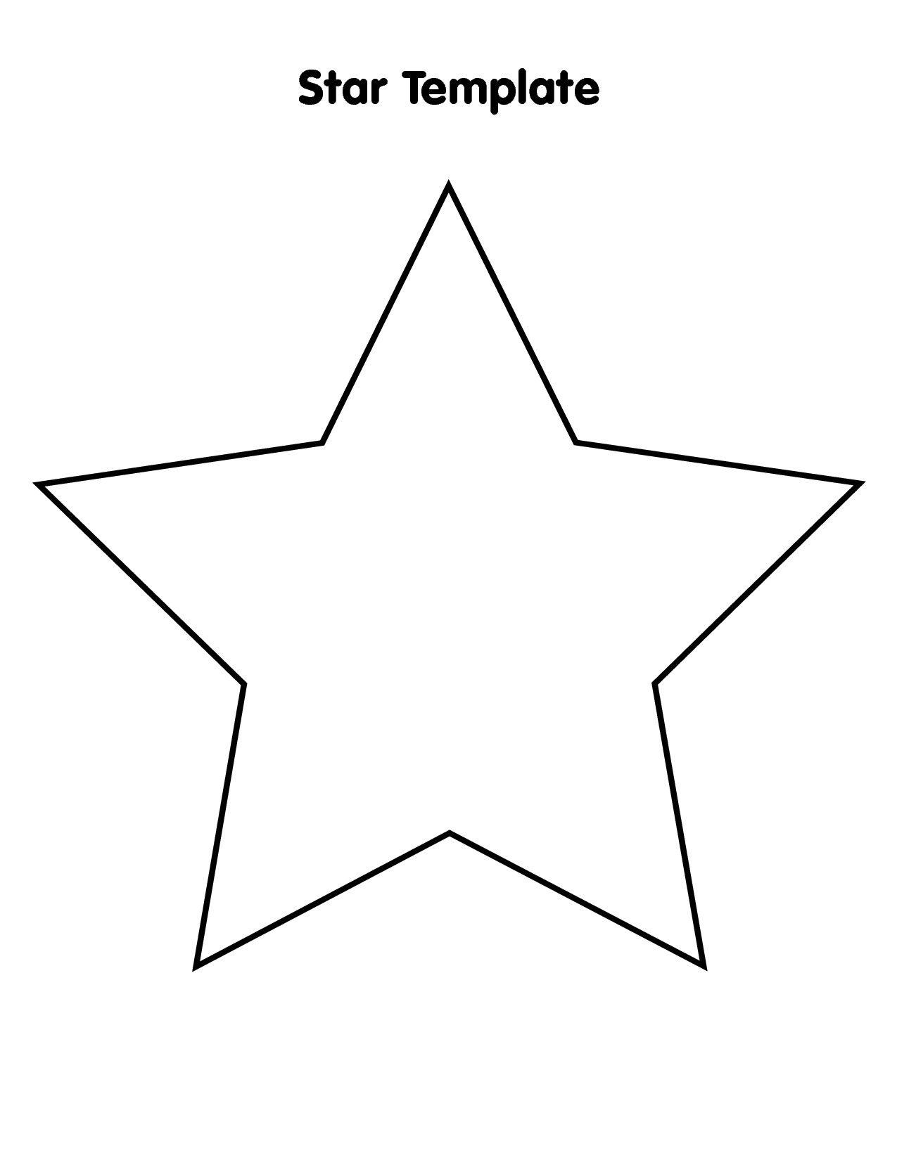 Printable Star Templatesjlongok Printable