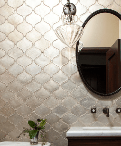 Silver Arabesque Tile Backsplash Show Your Metal Pinterest Arabesque Tile Backsplash
