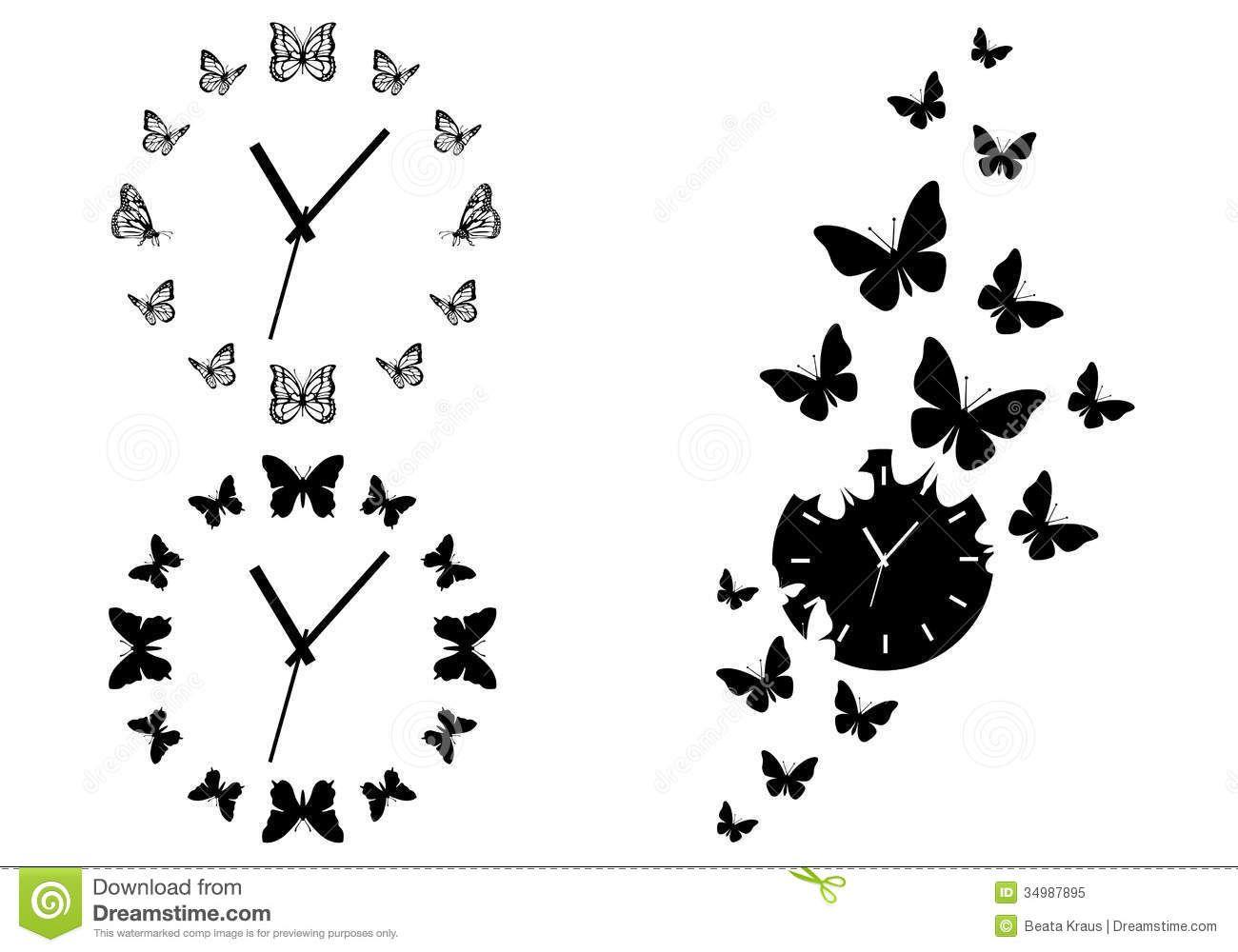Broken Clock Tattoo