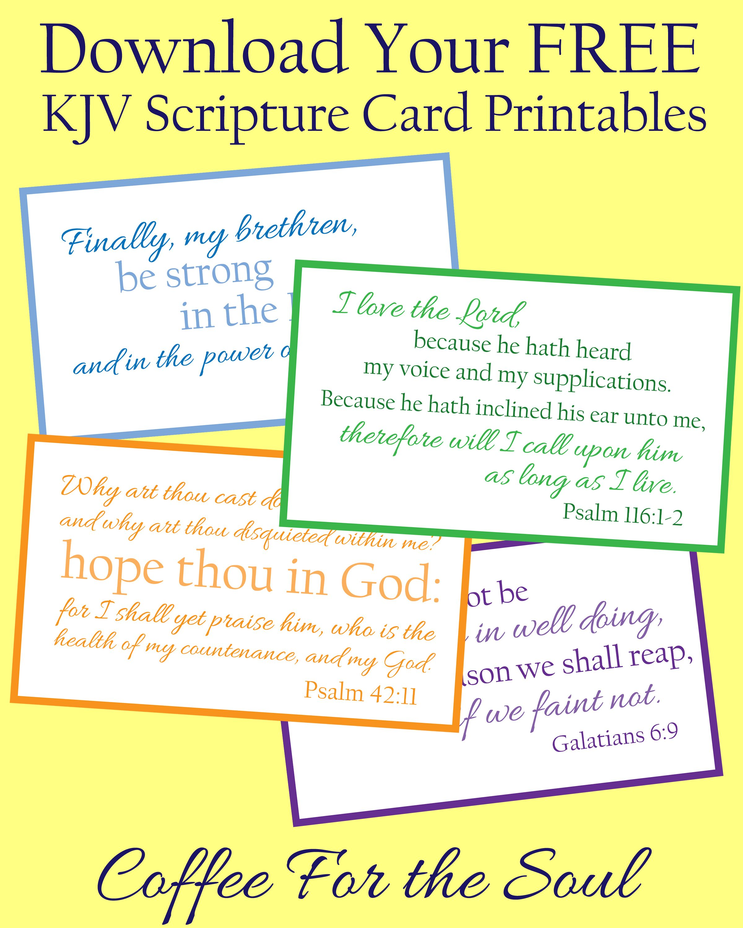 Free Kjv Scripture Card Printables