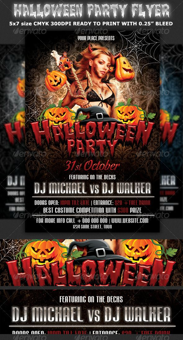 Halloween Party Flyer Template is very modern stylish
