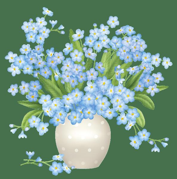 Blue Flowers Vase PNG Clipart mutfak dekopaj Pinterest