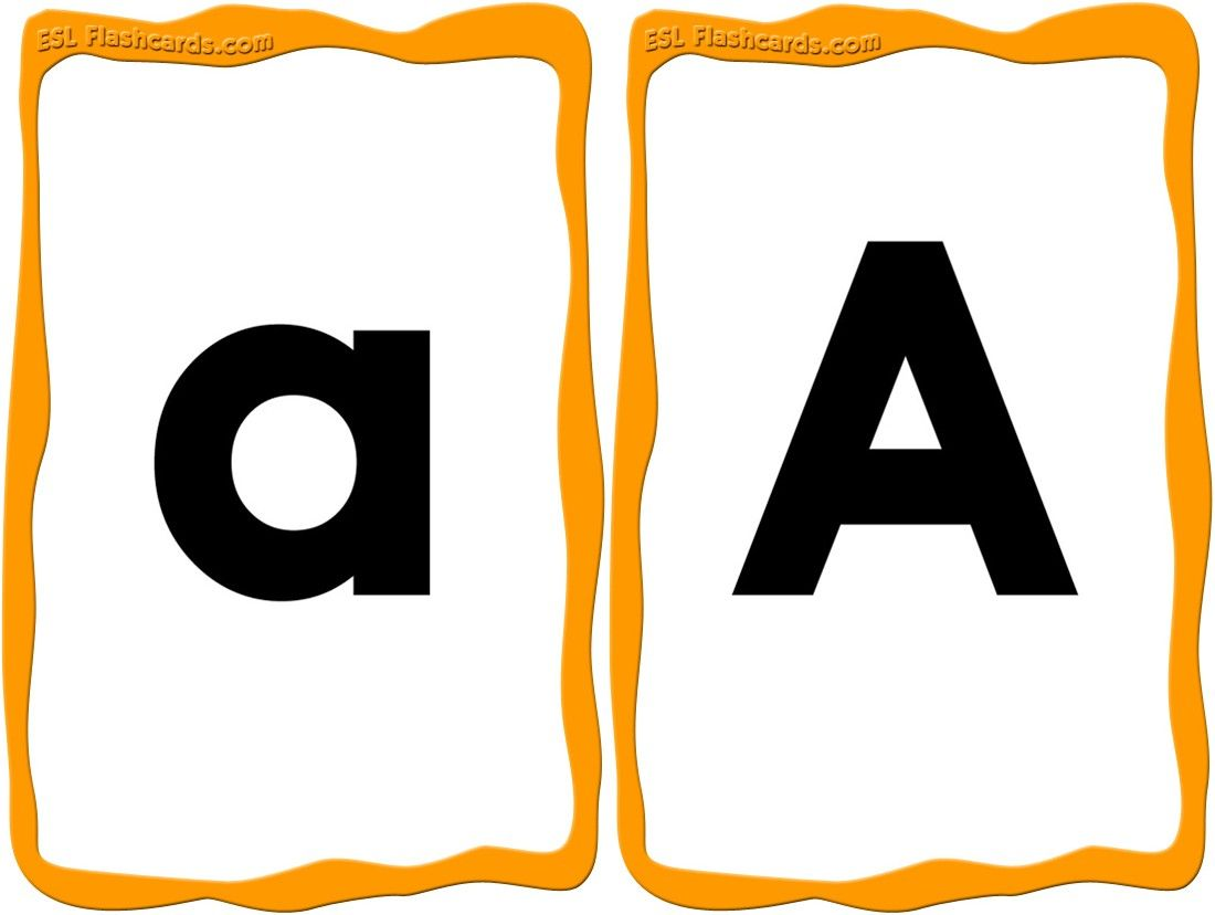 A Great Set Of Upper And Lowercase Alphabet Cards From A