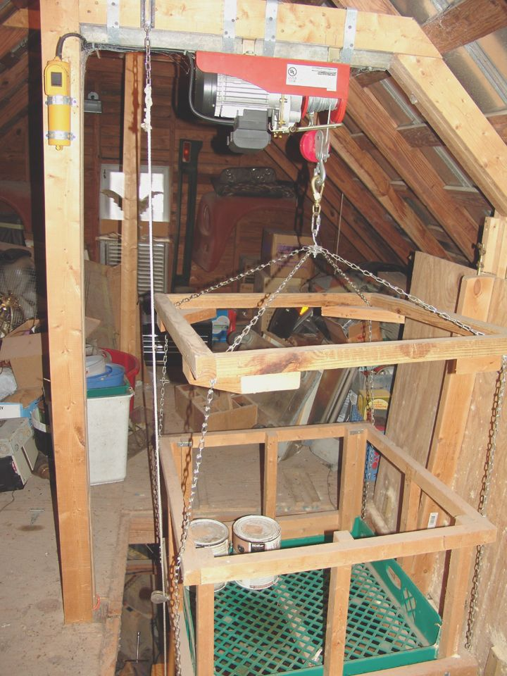 Hoisting tools to the attic? The Garage Journal Board