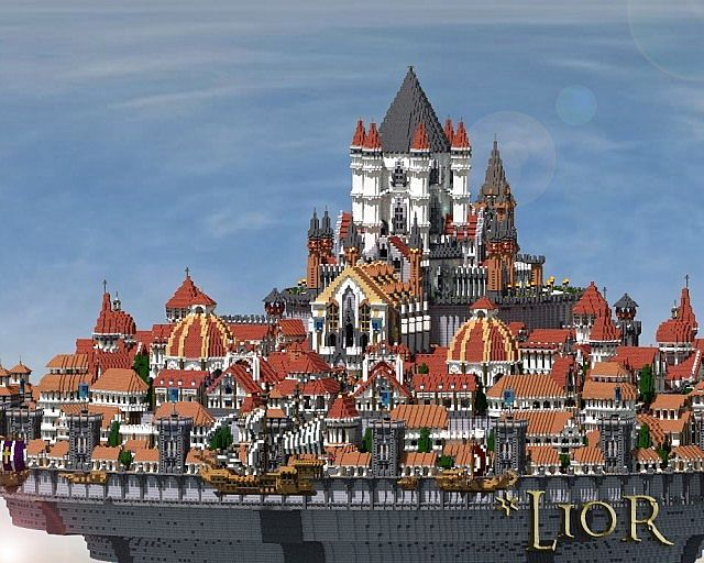 Lior 2013 The Air Kingdom Minecraft Building Ideas 2