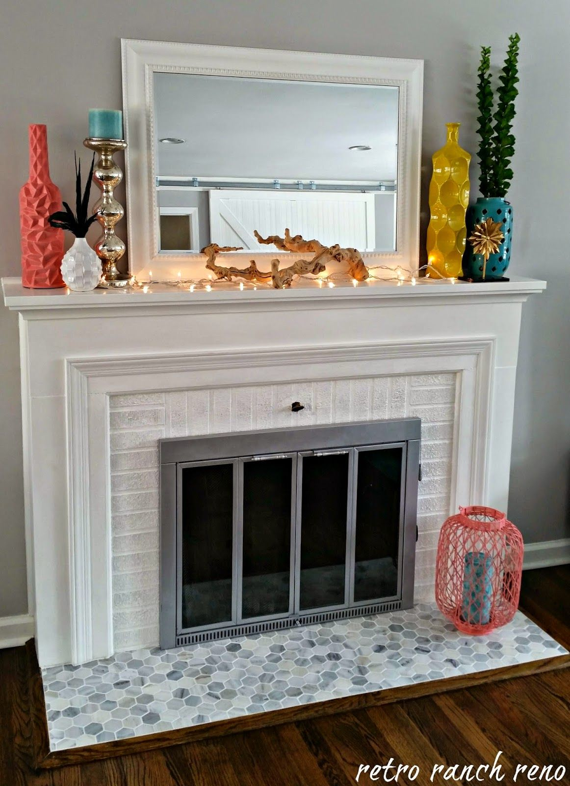S Brick Fireplace Makeover Beforeandafter