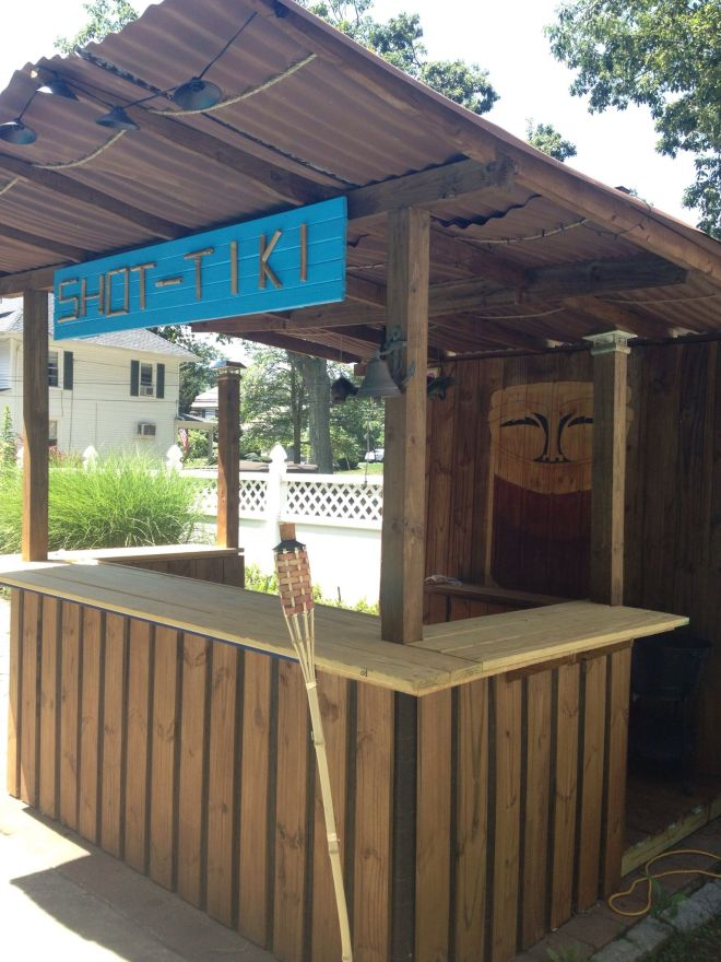Diy tiki bar my hubby built things i want in my backyard