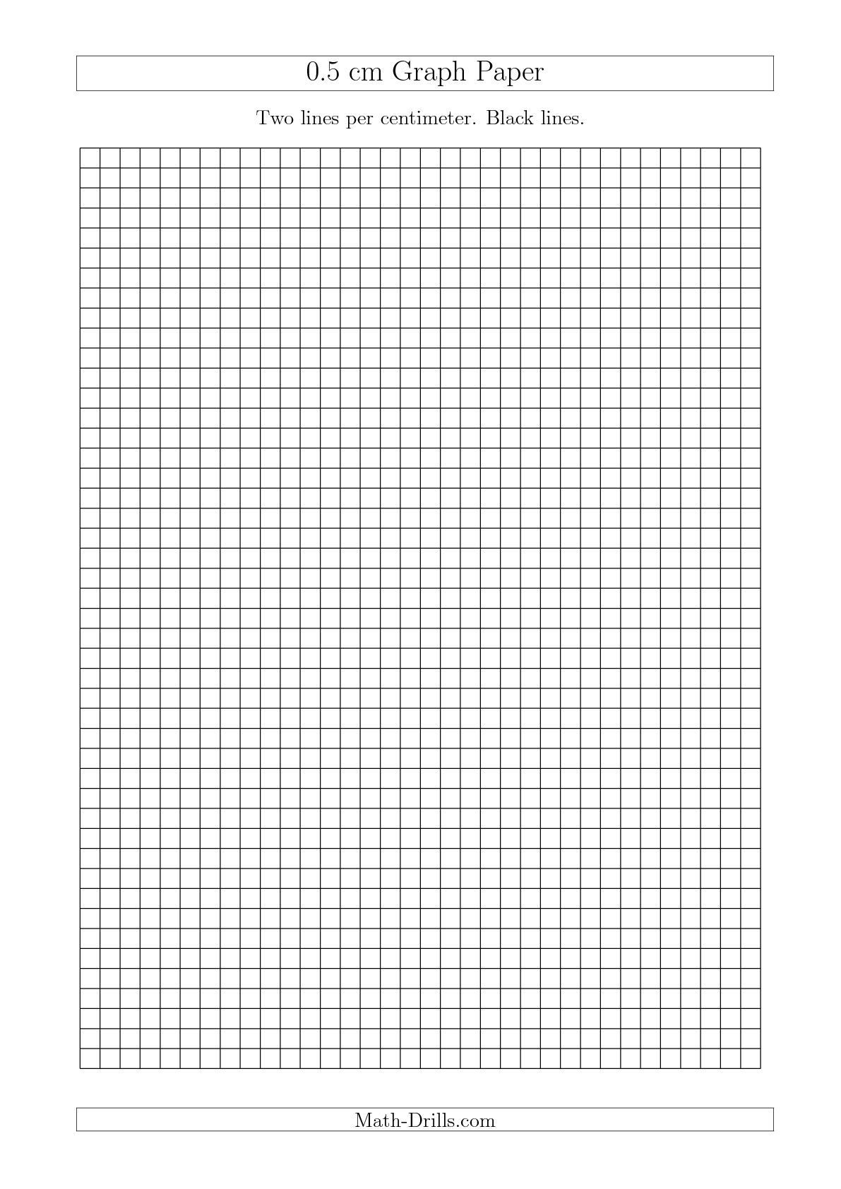 The 0 5 Cm Graph Paper With Black Lines A4 Size A Math