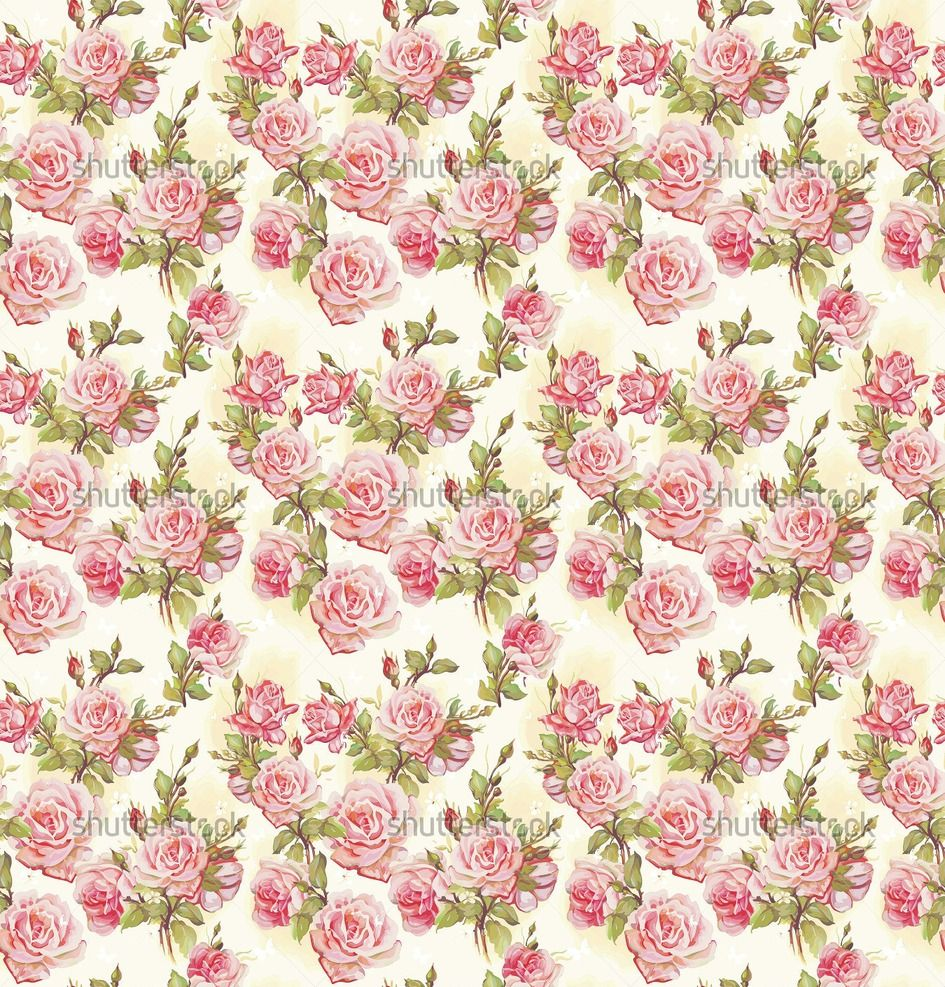 Pink Rose Pattern Wallpapers pattern, flower vector