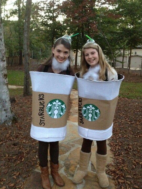 DIY Starbucks Halloween Costume! Its a laundry hamper