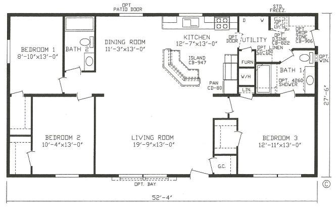 Mobile Home Blueprints 3 Bedrooms Single Wide 71 Bedroom Floor Plans
