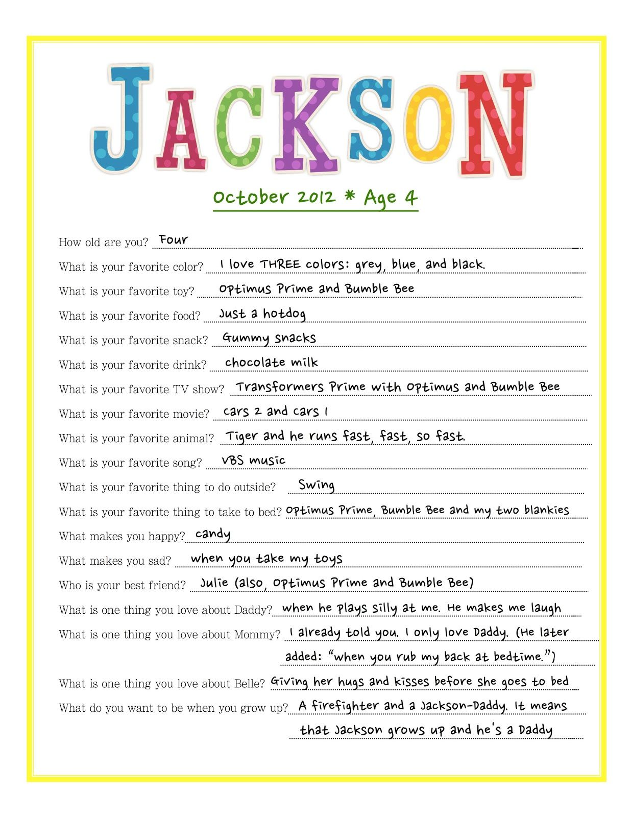 Birthday Interview literally reminds me of my Jackson