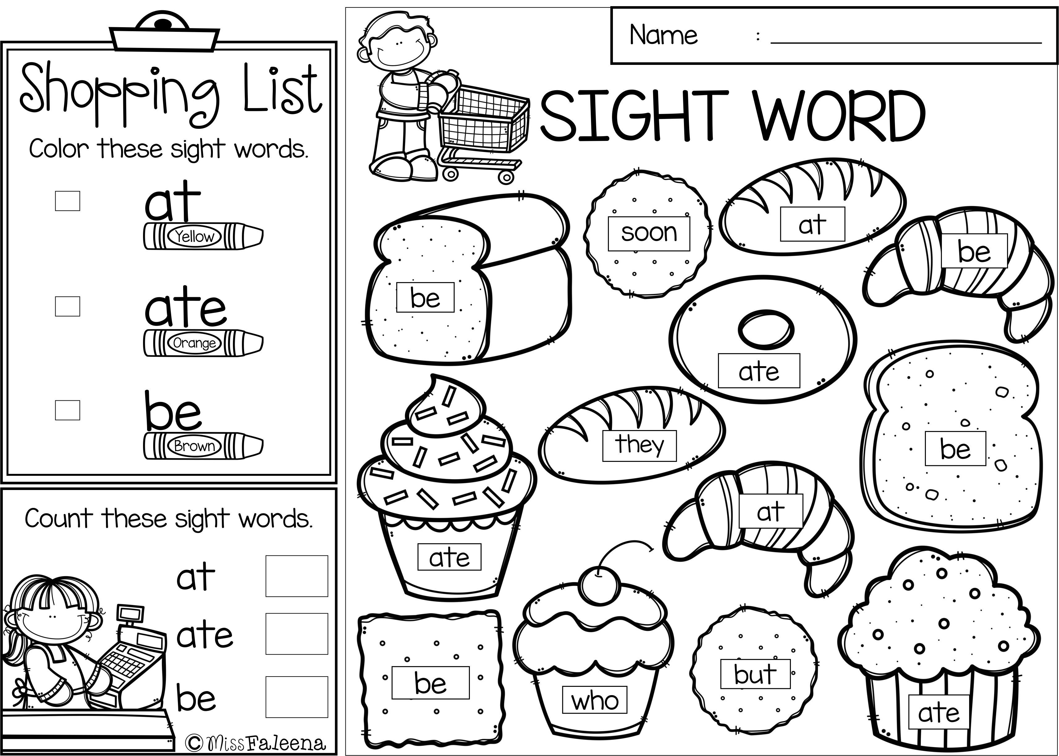 Sight Word Shop Is Perfect For Preschool Kindergarten And First Graders This Product Will Help