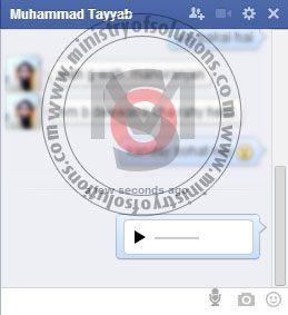 Send Voice Message in Facebook on windows