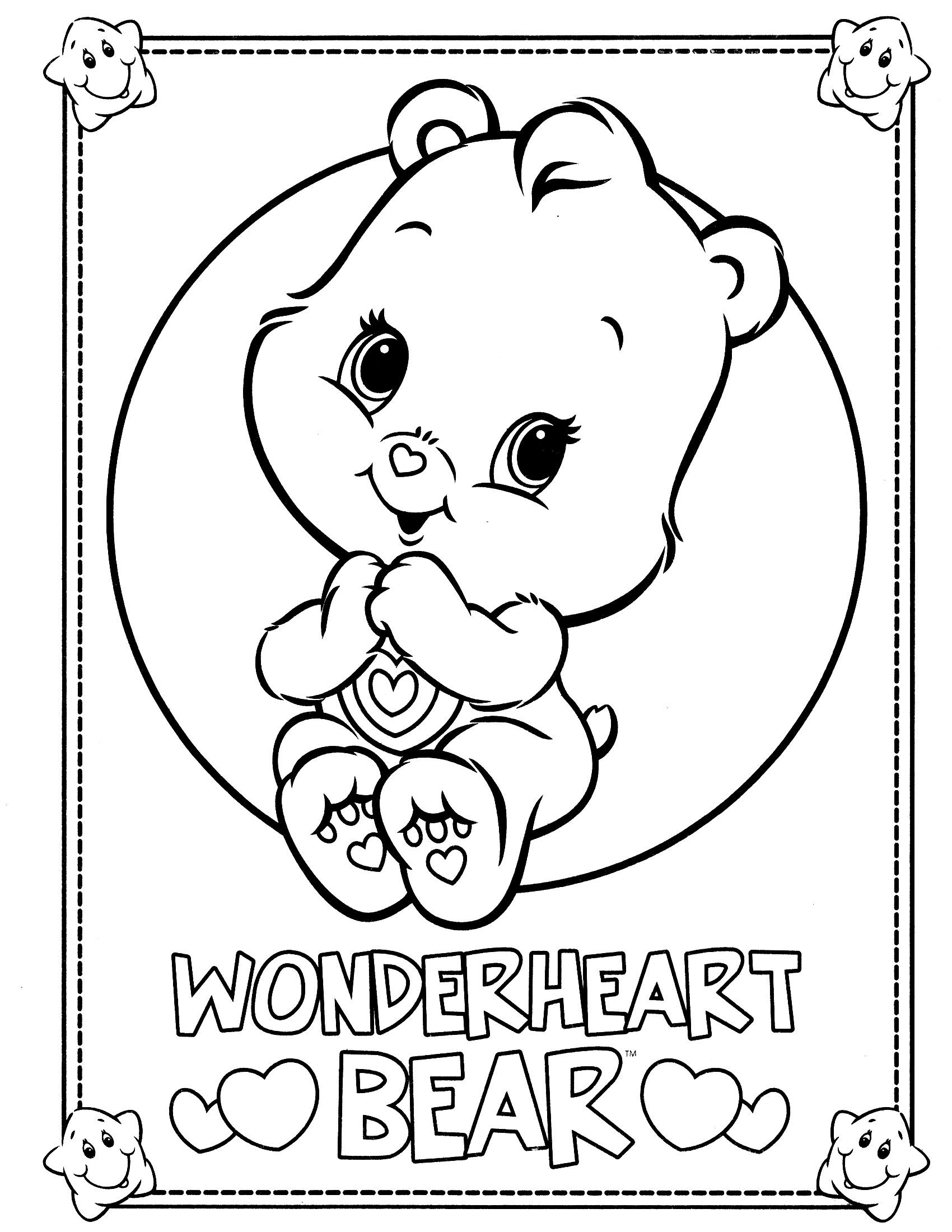 Care Bears Coloring Page Embroider Pinterest Care Bears
