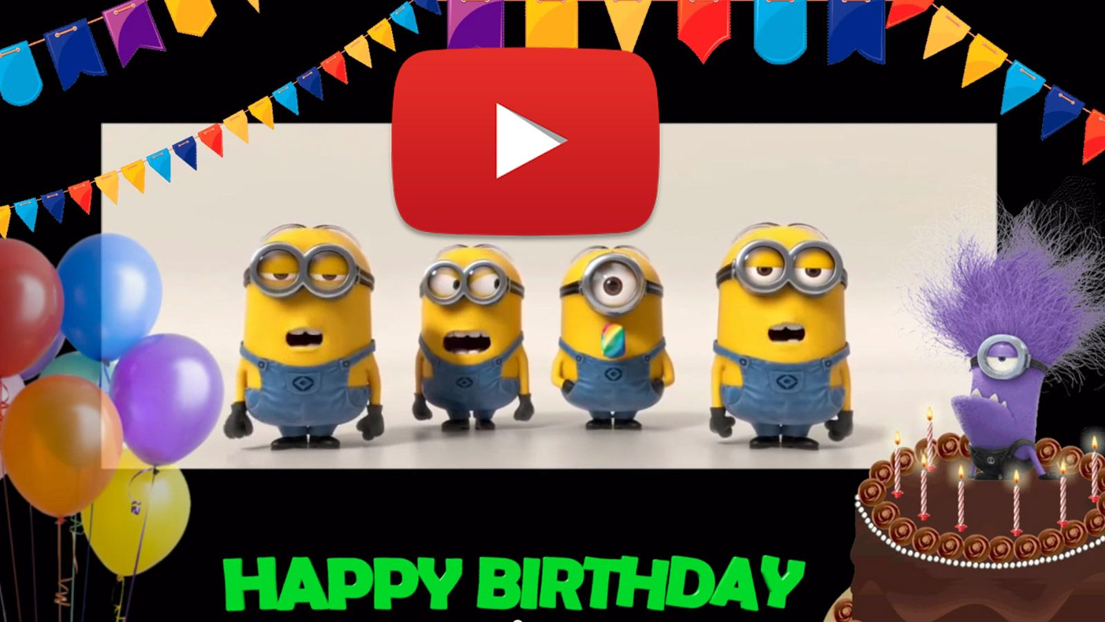 Happy Birthday to you! Minions Birthday song. http