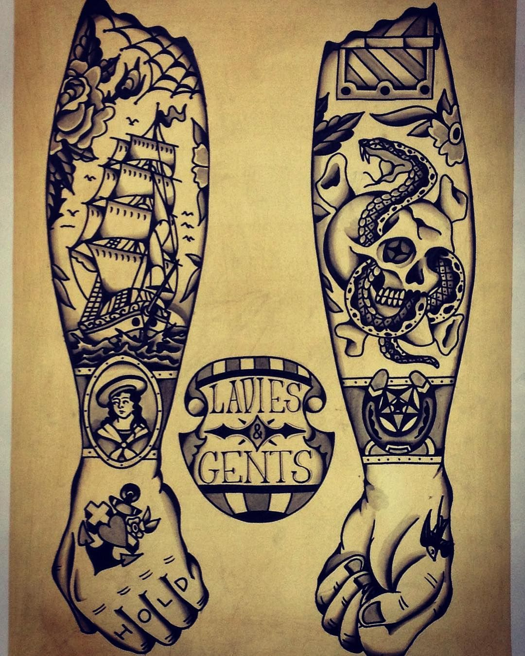 Traditional tattoo design Tattoos Pinterest