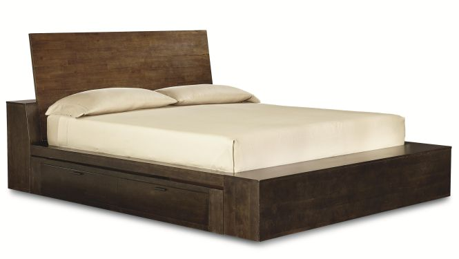 Kateri Queen Platform Bed W Two Storage Drawers By Legacy Classic